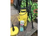 Karcher pressure washer with extras
