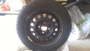 3 sets of used winter tires (x4) on rims (15 and 16 inches)