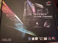 Intel i7 6700K / Asus Strix Z270E / Avexir 16GB 2400Mhz DDR4 RED LED PC Gaming Bundle System Setup