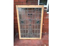 Original 1920s Lead and Stained Glass