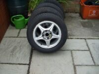 Alloy Wheels and Tyres suit Seat/VW