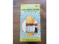 Vintage quirky portable coffee Maker.Original packaging and never used.