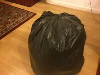 Full bag of clothes