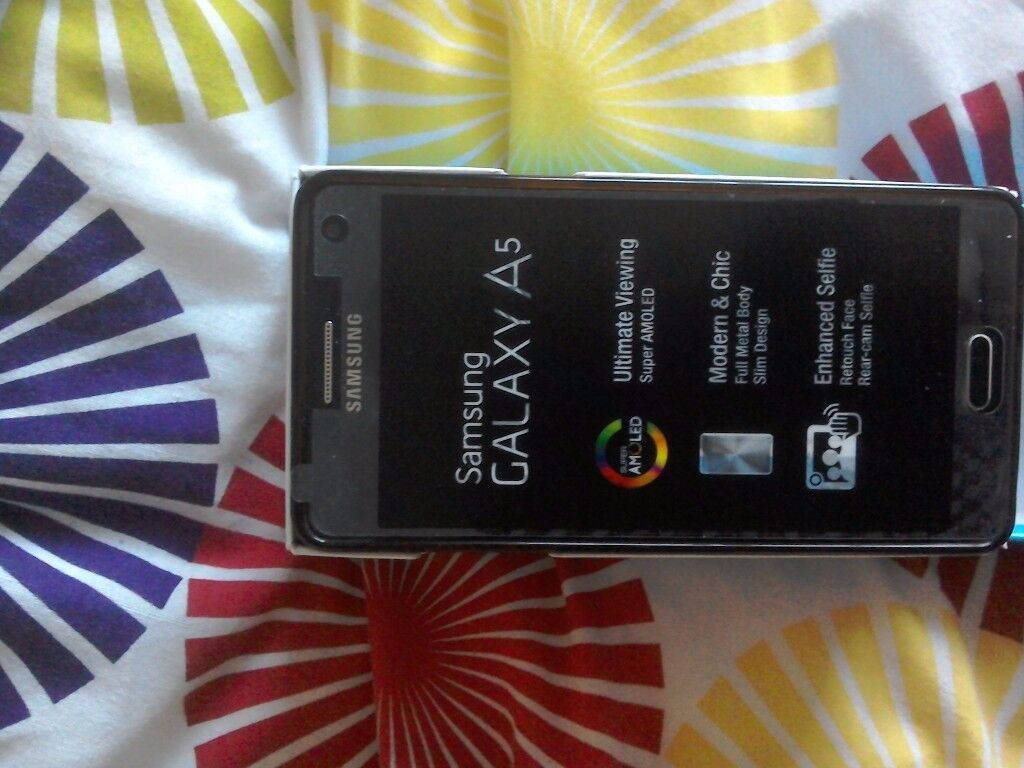 Samsung Galaxy A5, in Black and silver, very stylish android phone.