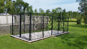 American Kennel Club 24' x 8' kennel with base complete
