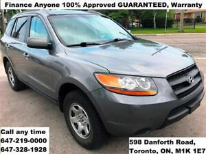 2009 Hyundai Santa Fe GL Auto FINANCE 100% APPROVED WARRANTY