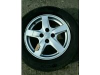 ***WHEEL 2*** 2002-2006 TOYOTA COROLLA E12 15 INCH ALLOY WHEEL WITH TYRE 195/60/R15