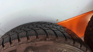 Winter studded tires 205/60r16 on rims