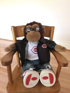 Collector Build a Bear Monkey, From Cinncinnati Reds Game