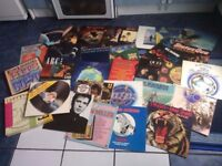 lots of vinyl records lps