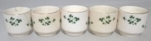 Vintage Carrigaline Pottery Ireland Shamrock Egg Cups