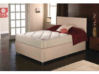 EXCLUSIVE SALE! Free Delivery! Brand New Looking!King Size (Single + Double) Bed + Economy Mattress