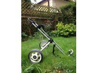 Lightweight, compact golf trolley