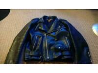 Vintage milano leather motorbike jacket