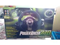 Wireless racing wheel suitable for XBox 360