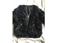 Top Shop Ladies feather look jacket