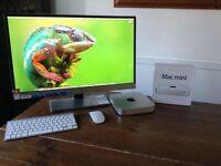 """Late 2012 Mac Mini/ 2.5 i5/ 16 GB Ram/ 250GB SSD/ 27"""" AOC Monitor/Mint Like New"""