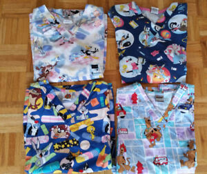 4 Looney Toon Scrub Nursing Tops