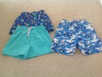 Boys swim shorts x3