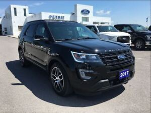 2017 Ford Explorer Sport - HEAT/COOL LEATHER, NAV, LOADED