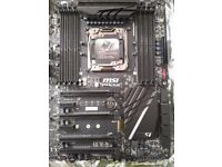 MSI X99A SLI plus LGA 2011-3 motherboard