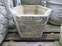 various small stone/concrete garden pots/planters - £10-£20 each - Andy's Yard