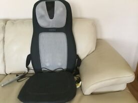 HoMedics heated shiatsu dual back massage cushion