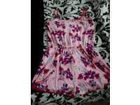 "NEW SIZE 16/18 ""LIPSY"" PINK PRINT PLAYSUIT"