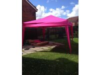 New Extra Large Pop Up Gazebo 3X3M with extra fabric covering RRP £90