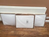 Bath side and end panels in white, brand new