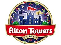 Alton towers tickets x4 14th September 2017