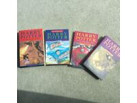 Harry Potter collection X 4 books by J K Rowling