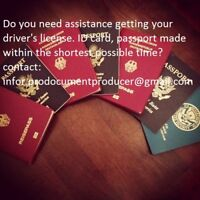 producer hight quality registered driver's license, passports,ID