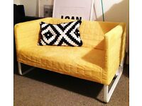 NEW 2 seater sofa KNOPPARP Ikea Yellow