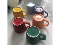 Set of 6 John Lewis mugs