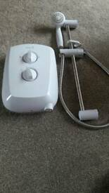 Electric shower used 8 . 5
