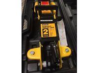 2 Tonne Hydraulic Trolley Jack Heavy Duty with Case