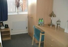 Single room with ensuite facilities, furnished.