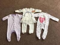 0-3 month girl baby grows