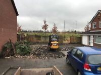 Groundworks, Footings & Foundations (mini digger & dumper hire)