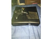 Black Xbox 360 elite with Kinect