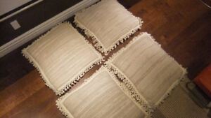4 large floor pillows in exc cond