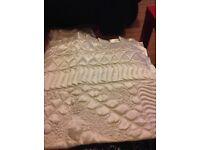 Satin, cream bedspread, new