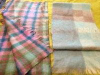 2 Vintage Mohair/Wool Scarves/Shawls