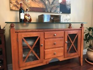 Hutch/Credenza for sale, like NEW