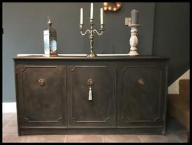 Annie Sloan Painted Three Door Sideboard