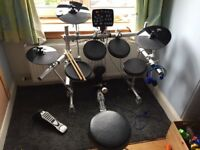 Korg HXM HD-006 Digital Drumkit, including mapex drum stool and pedal.