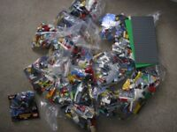 14 bags LEGO some standard, some unusual pieces, all genuine, plus boards/super heroes set.