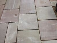 New Camel dust paving slabs 22m2 and the same used circle kit