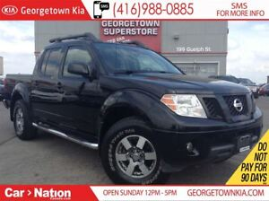 2011 Nissan Frontier PRO-4X LEATHER| ROOF| CREW| ALLOYS| OFF ROA